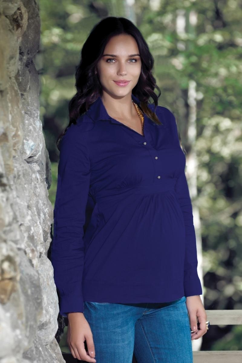 Рубашка для беременных 01323 синий