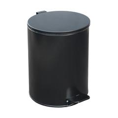 Ведро мусорное с педалью 15л стальное, черное, 250х330мм
