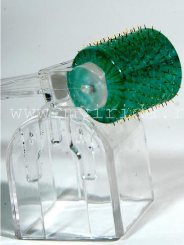 Мезороллер (дермароллер)  192 титановые позолоченные иглы в тубусе