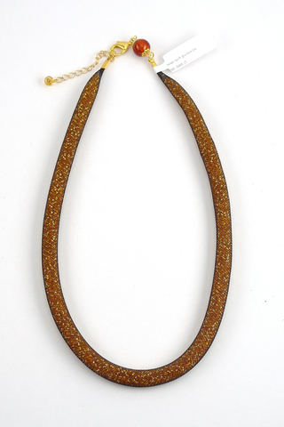Ожерелье Maglia Nero Oro (бисерный жгут коричневый)