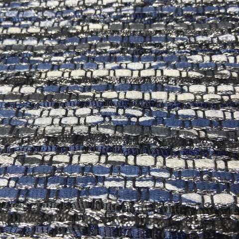 Ткань твид темно-синий с белым 3240