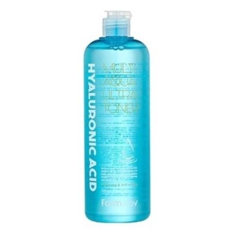 Интенсивно увлажняющий гиалуроновый тонер с эффектом микропилинга Farm Stay Hyaluronic Acid Multi Aqua Ultra Toner