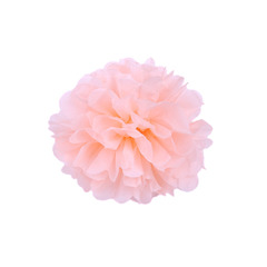 Помпон из бумаги 20 см персиковый