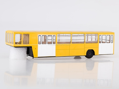 Semitrailer APPA-4 for passengers yellow-white 1:43 AutoHistory