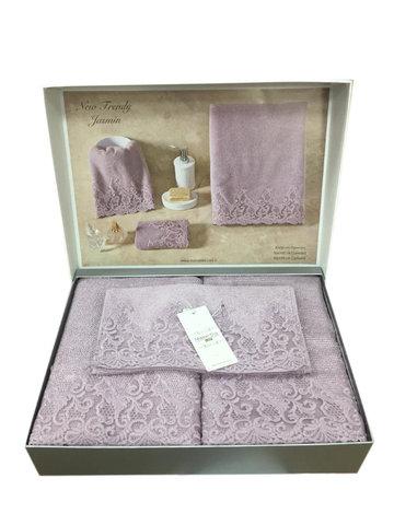 Набор полотенец  NEW TRENDY - НЬЮ ТРЕНДИ 3пр. фиолет Maison Dor (Турция)