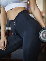 Женские лосины Lion gym lace black