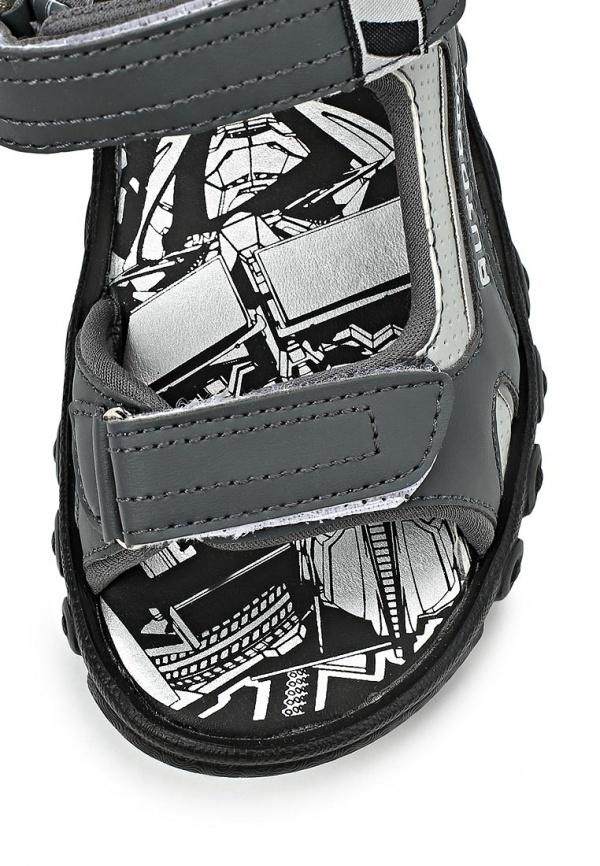 Сандалии Трансформеры (Transformers) на липучках для мальчиков, цвет серый