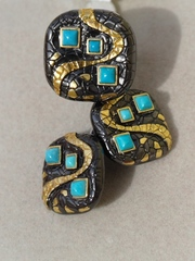 Иви  (кольцо + серьги из серебра)