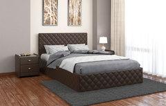Кровать с мягким изголовьем Рондо черная 1,4