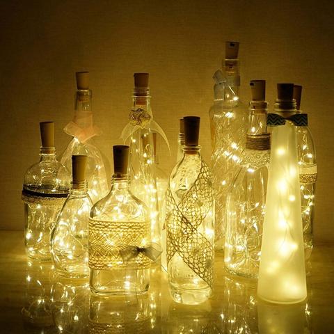 Гірлянда LED HappyHome Пробка  для пляшки  2 метра, 20 LED, колір теплий білий 282721252