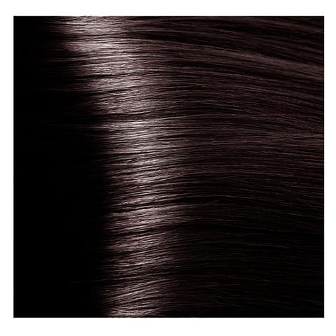 Крем краска для волос с гиалуроновой кислотой Kapous, 100 мл - HY 5.8 Светлый коричневый шоколад
