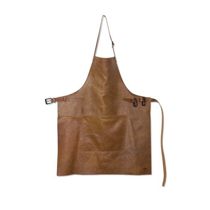 Фартук с карманом BBQ, кожа, Коньячный винтаж, арт. 551864 - фото 1