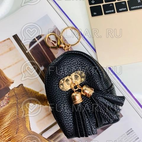 Брелок-мини кошелёк-ключница «Актриса» чёрная