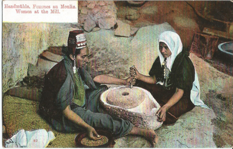 SYRIE - Femme Syrienne au Moulin - Handmuhle - Women at The Mill