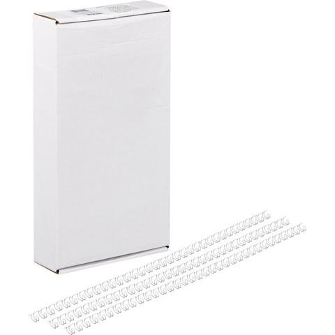 Пружины для переплета металлические Promega office 4.8 мм белые (100 штук в упаковке)