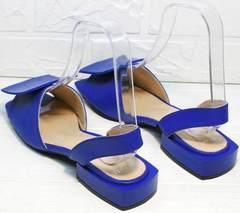 Красивые босоножки с маленьким каблуком Amy Michelle 2634 Ultra Blue.
