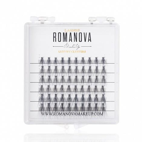 Ресницы пучки Romanovamakeup F MIX 60шт