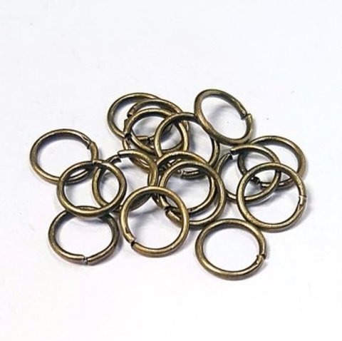 Кольцо одинарное 6 мм цвет бронза цена за 25 шт