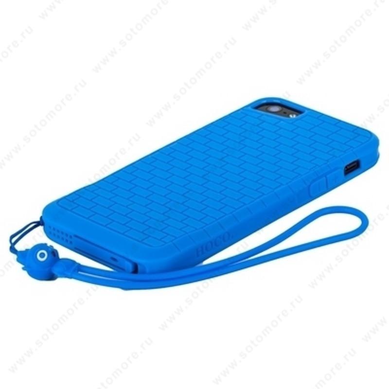Накладка HOCO для iPhone SE/ 5s/ 5C/ 5 - HOCO Cool·Great Wall TPU crystal case Blue