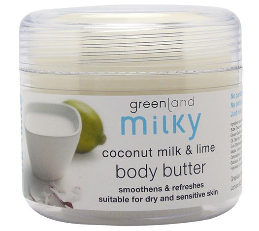 Крем для тела, молоко кокоса-лайм, Greenland