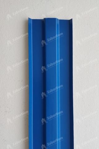 Евроштакетник металлический 80 мм RAL 5002 W-образный 0.45 мм