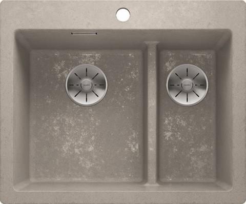 Кухонная мойка Blanco PLEON 6 Split, бетон