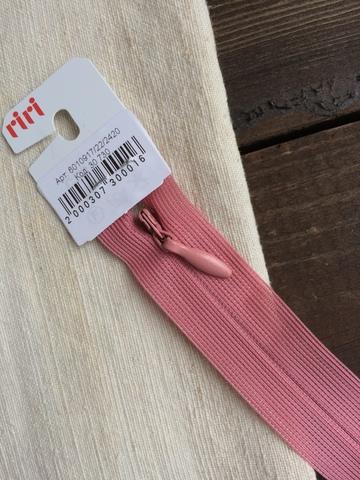 Молния потайная Т3, Riri, 22см, розовый