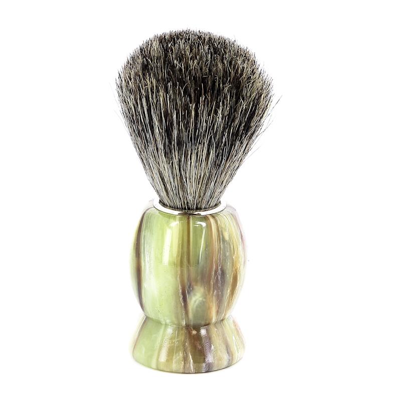 Помазок для бритья Mondial, пластик, ворс барсука, рукоять - цвет оникса