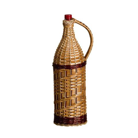 Бутылка стеклянная 3.075 л. «Четверть», оплетенная прутьями лозы