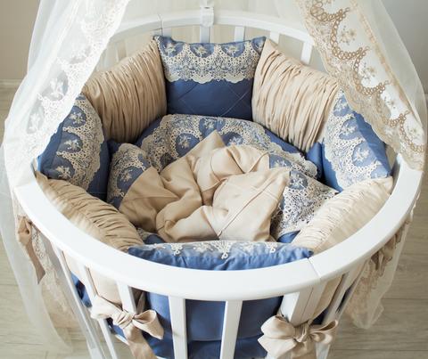 Комплект в круглую/овальную кроватки  Сапфир