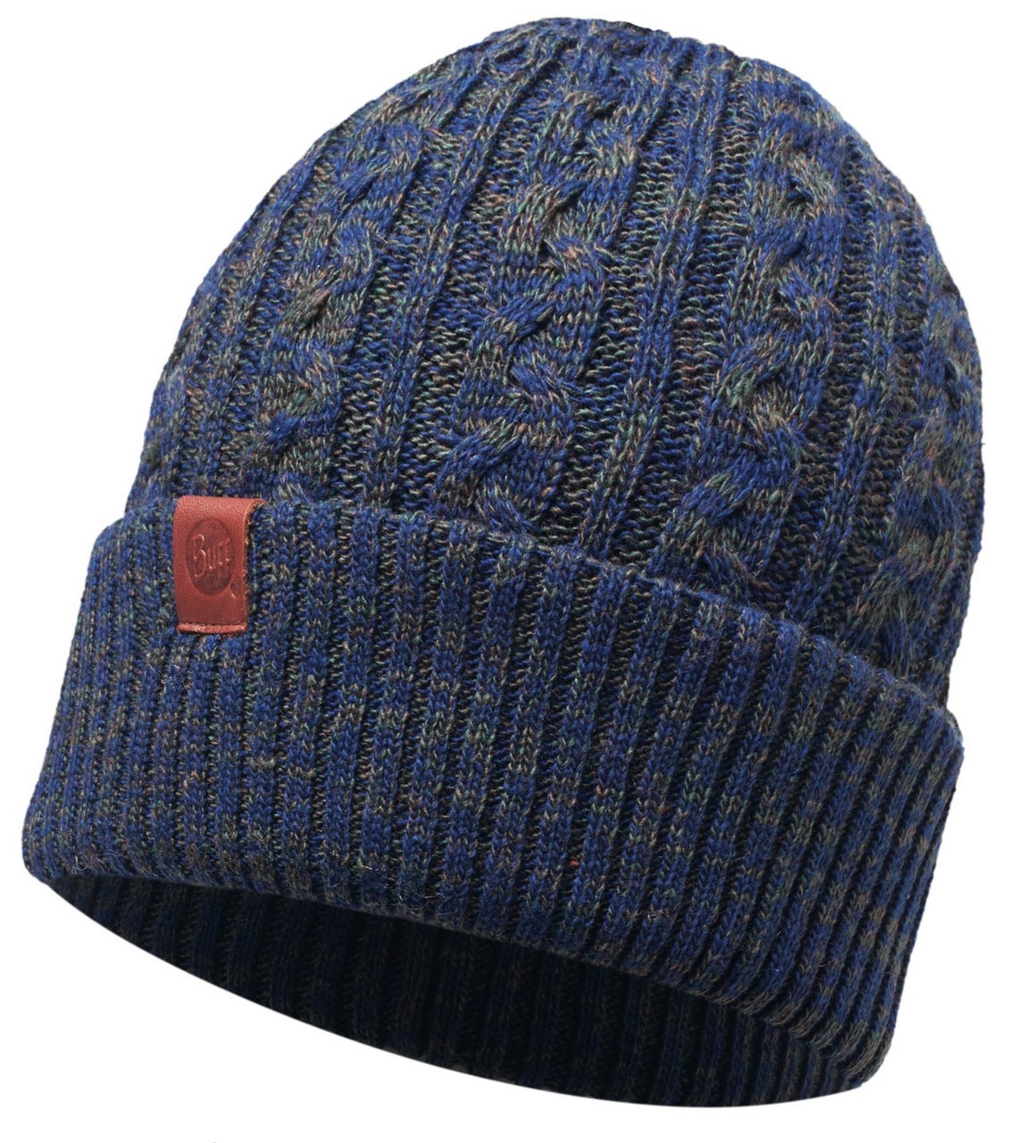 Шапки с отворотом Вязаная шапка Buff Braidy Moss 116034.851.10.00.jpg