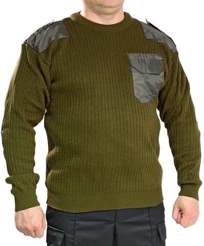 Джемпер свитер мужской (круглый вырез, олива)