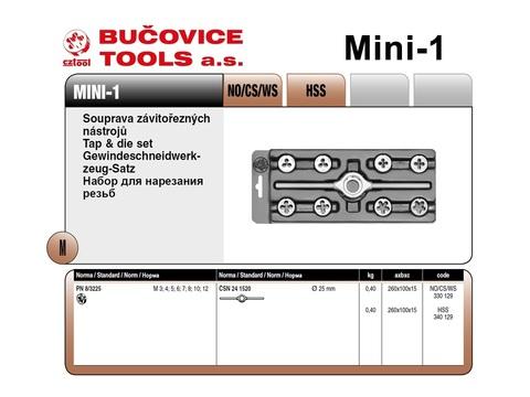 Набор плашек М3-М12 9пр CS(115CrV3) Bucovice(CzTool) Mini-1 330129