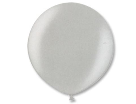 Большой шар металлик серебряный