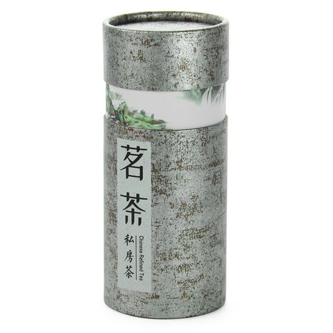 Картонная баночка для хранения чая (серебристая)