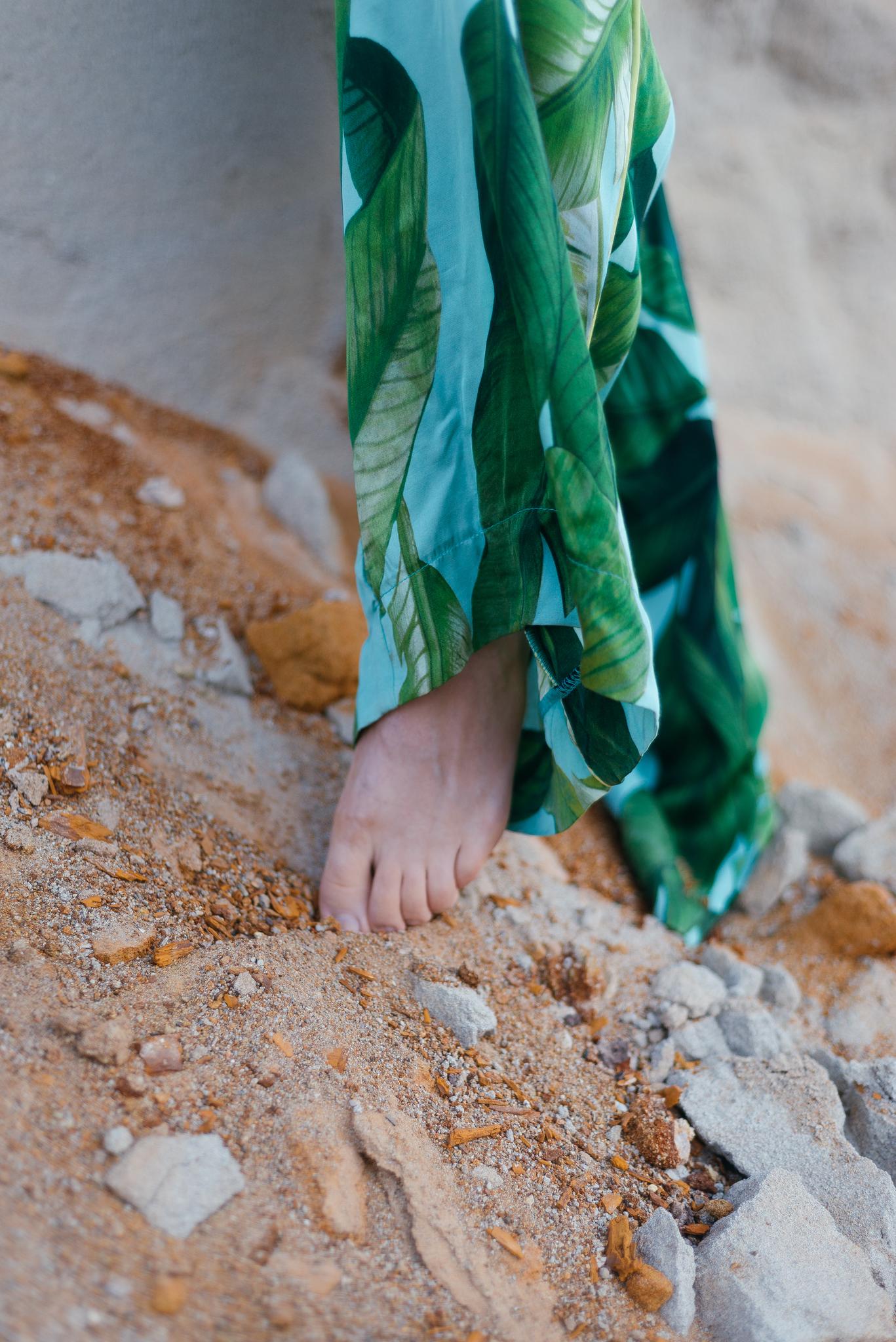 Брюки свободные пижамного стиля из шелка