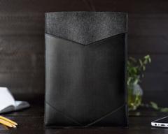 Фетровый конверт Gmakin для Macbook экокожей
