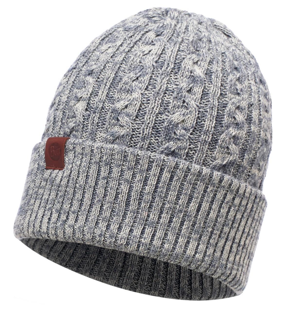 Шапки с отворотом Вязаная шапка Buff Braidy Grey 116034.937.10.00.jpg