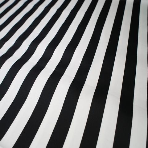 Ткань хлопок сатин с эластаном с черными полосками 2037