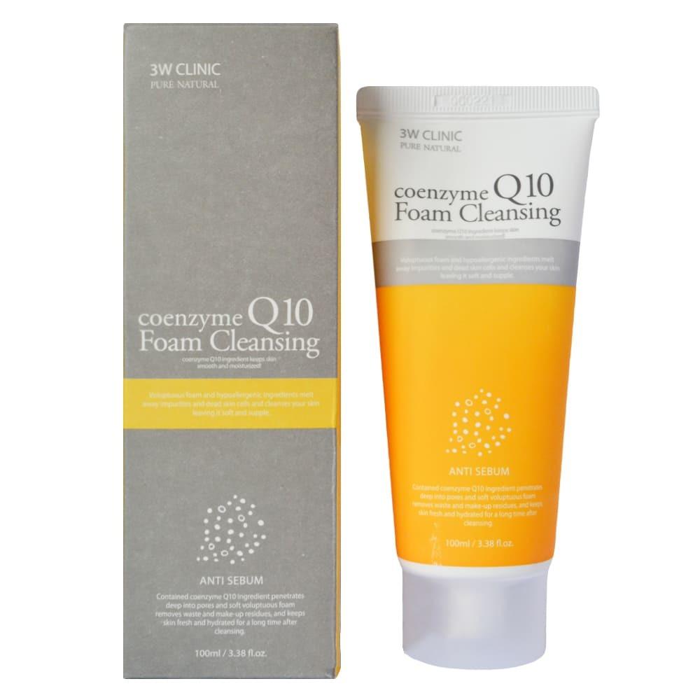 3W Clinic Coenzyme Q10 Foam Cleansing — Пенка для умывания с коэнзимом Q10