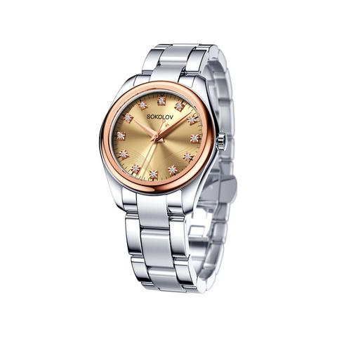 140.01.71.000.03.01.2 - Женские часы от SOKOLOV из стали и золота