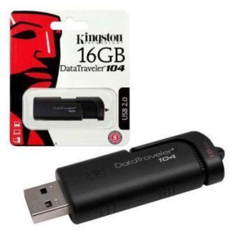 USB флэш-диск Kingston 16GB DataTraveler 104 чёрный