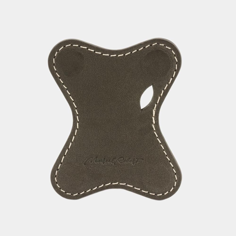 Чехол-держатель для наушников Papillon Easy из натуральной кожи теленка, цвета хаки