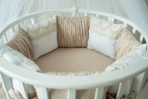 Комплект в круглую/овальную кроватки  Taupe