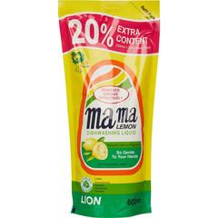 Средство для мытья посуды с антибактериальным эффектом Mama Lemon с натуральным ароматом лимона 600 мл