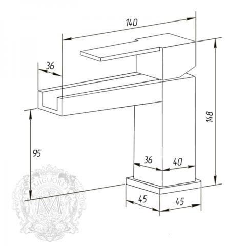 Смеситель для раковины с каскадным изливом Migliore Kvant ML.KVT-2715 схема