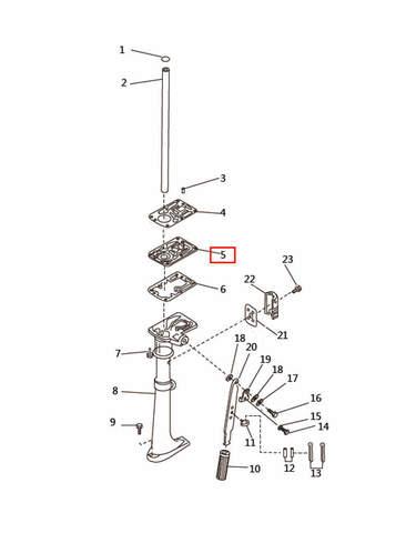 Прокладка дейдвуда  для лодочного мотора T2,5 SEA-PRO (7-5)