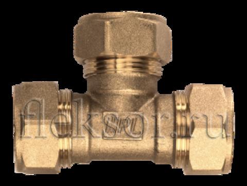 Тройник редукционный труба-труба-труба ТR 32-25-32 тройник - Hydrosta Flexy