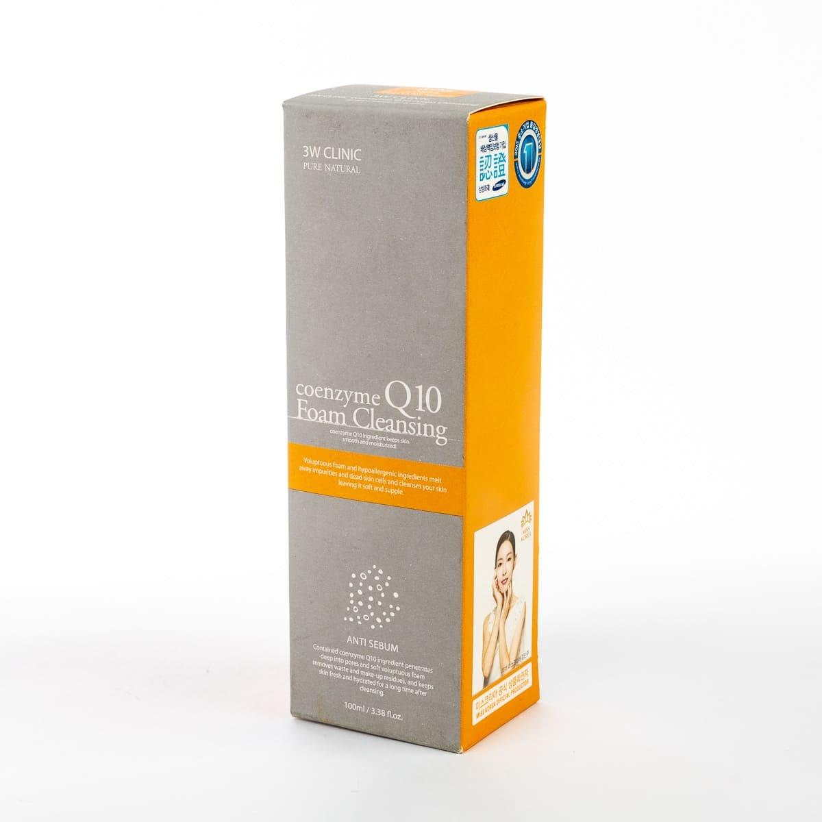 Очищающая пенка для лица с коэнзимом Q10 - 3W Clinic Coenzyme Q10 Foam Cleansing