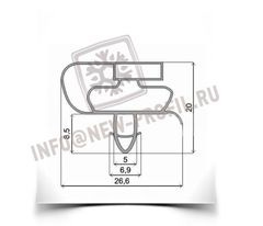Уплотнитель 68*56 см для холодильника Атлант МХМ-1704 (морозильная камера) Профиль 021